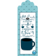 Aqua Navy Blue Bible Margin Tab: Coffee and Jesus
