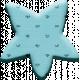 Aqua Chipboard Star
