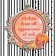 Autumn Pumpkin Chipboard Bible Verse
