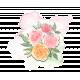 Pink Orange Flower Bouquet Chipboard