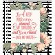 Pink & Orange Word Art in a Chipboard Frame