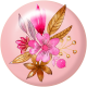 Pink & Orange Floral Flair 4