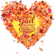 Autumn Leaves in Heart Shape with Word Art