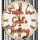 Faith in God's Timing Chipboard Clock Word Art