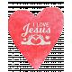 Watercolor Heart I love Jesus Word Art