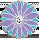 Purple & Turquoise Chipboard Flower