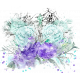 Purple and Turquoise Watercolor Blendable Transfer