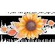 Grateful Sunflower and Autumn Leaves Sticker