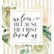 White Roses and Bible Verse Card