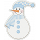 Baby Its Cold Outside Chipboard Snowman