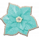 December Daily Add-On Chipboard Poinsettia