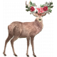 December Daily Titles of Christ Add-On Deer with Flowers Chipboard