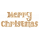 Merry Christmas Etched Wood Word Art