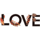 Fall in Love Mini Kit Word Art: Love Chipboard