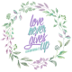 Lilac Aqua Floral Wreath & Bible Verse