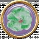 Lilac Aqua Element 32 Flower Brad