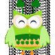 Saint Patrick Owl with Cake