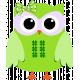Saint Patrick Owl with Bow Element