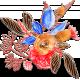 Valentine Mini Watercolor Chipboard Bouquet 2