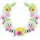 Retro Camper Add-On: Floral Wreath Sticker