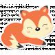 Retro Camper Kit Add-On: Fox Sticker