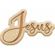 April Add-On: Jesus Etched Wood Word Art