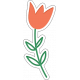 Who I am in Christ Add-On: Tulip Sticker