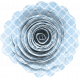 Blue Patterned Paper Flower