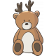 Kumbaya Mini Kit Teddy Bear with Antlers