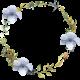 Patio Garden Element 11 Watercolor Wreath