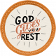 Autumn Mini Kit God Gives You Rest Word Art