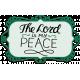 Autumn Mini Kit The Lord is My Peace Wordart