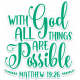 Bloom Scripture Word Art Matthew Verse Sticker