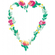 Bloom Watercolor Flower Wreath