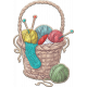 Knit Mini Kit: Knitting Basket with Yarn
