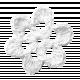Teen Girl White Crochet Flower