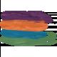 Paint Smear - purple, orange, blue, green