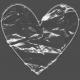 Clear Plastic Pocket- Heart