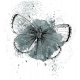 Noble Nature Mini Kit - Element - Watercolor Butterfly - Teal