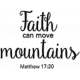 Scripture Word Art- faith can move mountains