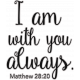 Scripture Word Art- with you always