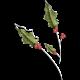 Christmas Cuties Flowers- holly 02