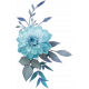 Blue floral cluster