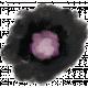 Black Gouache Flower