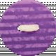 Spookalicious- Purple Striped Button