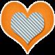 Our House- Orange & Blue Heart