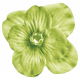 No Tricks, Just Treats Add-On- Green Vintage Flower