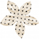 Spookalicious- Little Black Polka Dot Flower