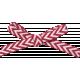 Nutcracker December BT Mini Kit- Red and White Chevron Bow