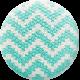 Sweater Weather- Blue Fabric Button- Chevron Pattern